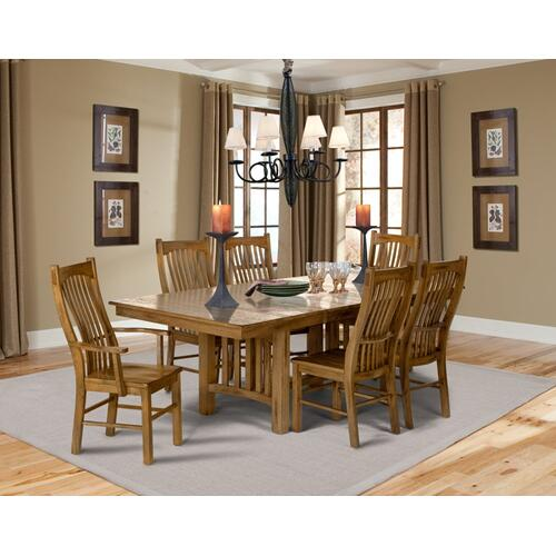 7 PIECE DINING SET (EXTENSION TABLE AND 6 SIDE CHAIRS) *OPTIONAL ARM CHAIR PICTURED*