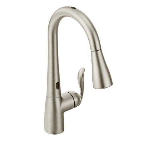 7594esrs In Spot Resist Stainless By Moen In Atlanta Ga Arbor Spot Resist Stainless One Handle Pulldown Kitchen Faucet