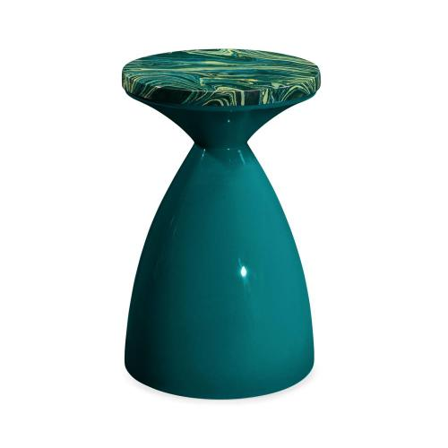 Teal painted round wine table