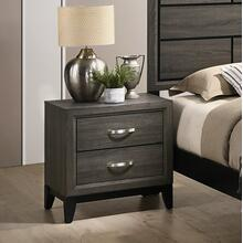 See Details - Stout Metal Bar Pulls Distressed Nightstand