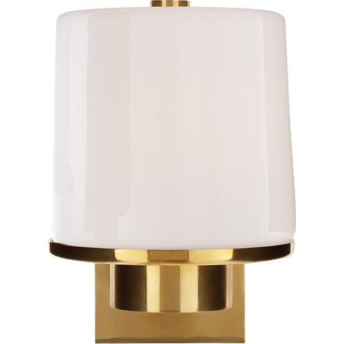 Visual Comfort BBL2094SB-WG Barbara Barry Sumo 1 Light 6 inch Soft Brass Bath Wall Light