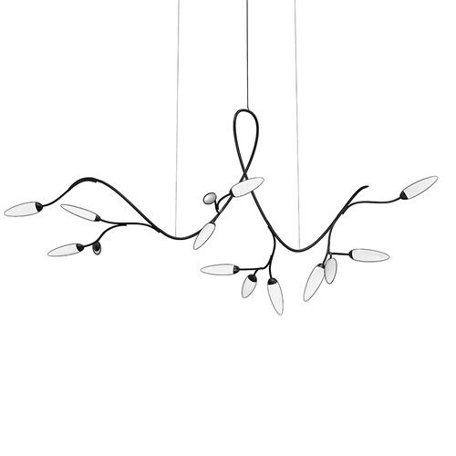 Sonneman - A Way of Light - Vines LED Pendant [Size=Standard, Color/Finish=Satin Black]