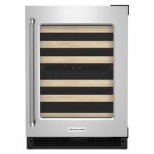 24 KAD BASE RT 2 ZONE WINE - Black Cabinet/Stainless Doors