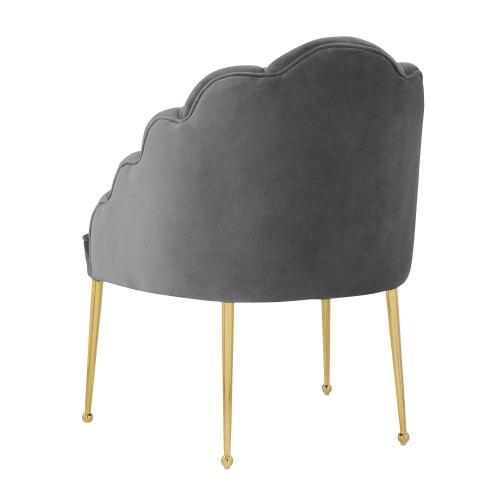 Daisy Petitie Grey Velvet Chair
