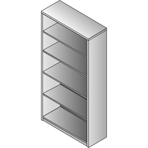 Bookcase 5/shelf - 65 X 14 X 36