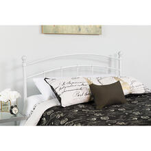 Woodstock Decorative White Metal King Size Headboard