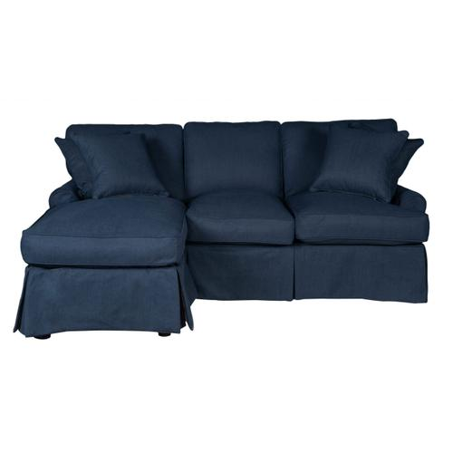 Horizon Slipcovered Sleeper Sofa with Chaise - Color: 391049