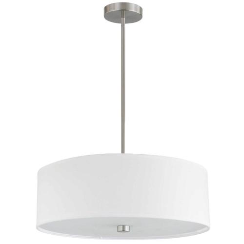 Product Image - 4lt Incandescent Pendant Sc W/ White Shade
