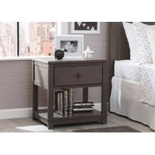 Langston Nightstand with Drawer and Shelf - Rustic Grey (084)