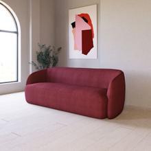 Divani Casa Spruce - Modern Red Velvet Sofa