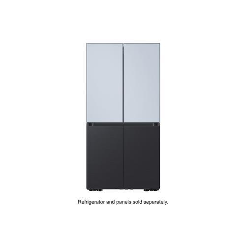 BESPOKE 4-Door Flex™ Refrigerator Panel in Sky Blue Glass (matte) - Top Panel