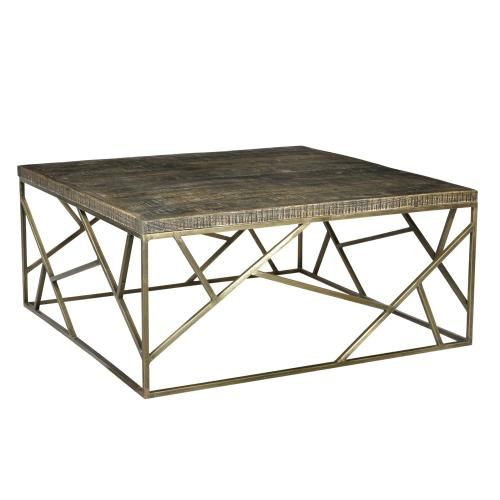 Crestview Collections - Bengal Manor Crazy Cut Iron Cocktail Table