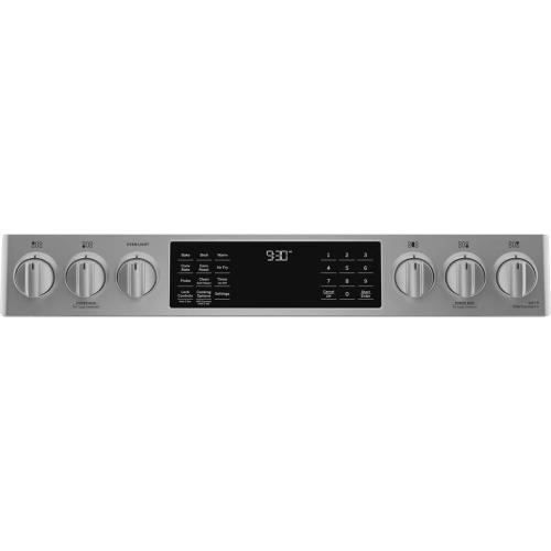 """GE Appliances Canada - GE Profile 30"""" Slide-In Convection Gas Range with WiFi Connect Stainless Steel - PCGS930YPFS"""