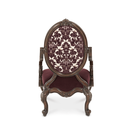 Oval Back Wood Chair - Opt1