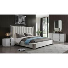Modrest Token - Modern White & Stainless Steel Bedroom Set