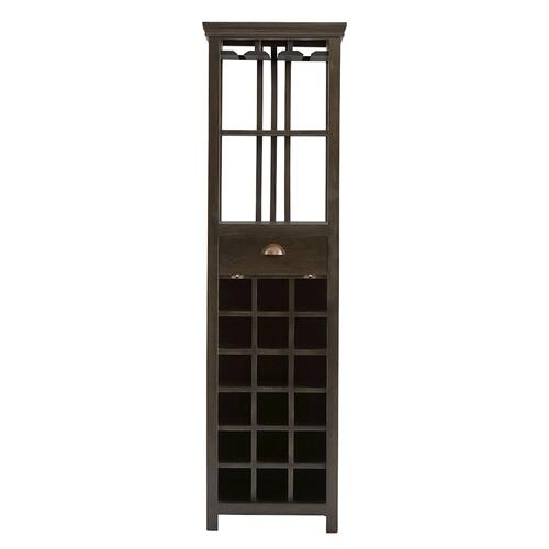 Fauna Tall Wine Storage Cabinet with Flip Down Door