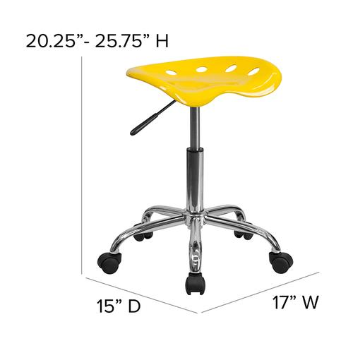 Flash Furniture - Vibrant Yellow Tractor Seat and Chrome Stool