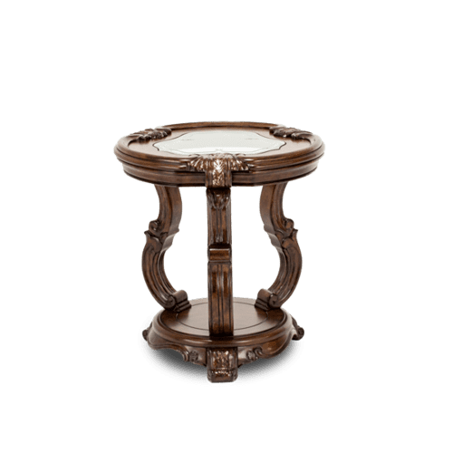 Platine de Royale Chair Side Table Light Espresso