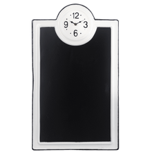 Black & White Enamel Chalkboard Wall Clock
