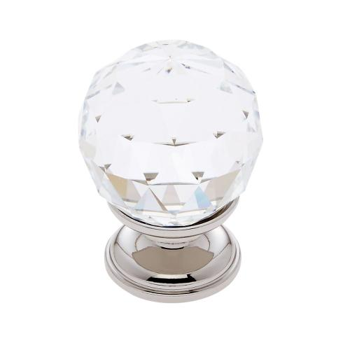 Polished Nickel 30 mm Round Faceted Knob
