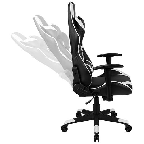 Flash Furniture - Black Gaming Desk and Black Reclining Gaming Chair Set with Cup Holder, Headphone Hook & 2 Wire Management Holes