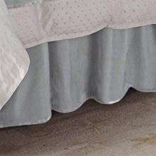 "Gathered Velvet Bed Skirt (16""/18"" Drop) - Full"