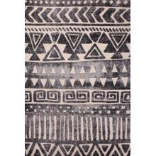 "Soft Power Loomed Polypropylene Geometric Design Tara 305 Area Rug by Rug Factory Plus - 5'4"" x 7'5"""