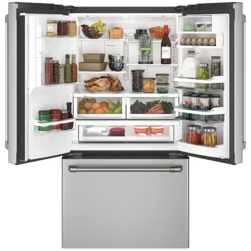 Café ENERGY STAR ® 22.1 Cu. Ft. Smart Counter-Depth French-Door Refrigerator with Hot Water Dispenser