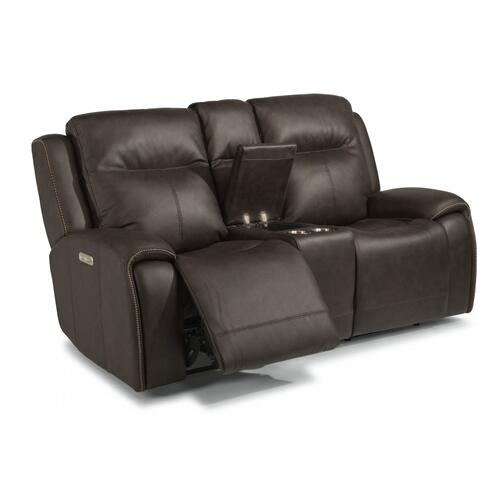 Solo Power Reclining Loveseat with Console & Power Headrests