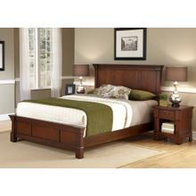 Aspen Queen Bed and Nightstand