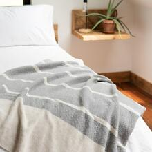 Grey Color Block Throw