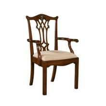 See Details - CONNECTICUT REGENCY MAHOGANY ARM CHAIR