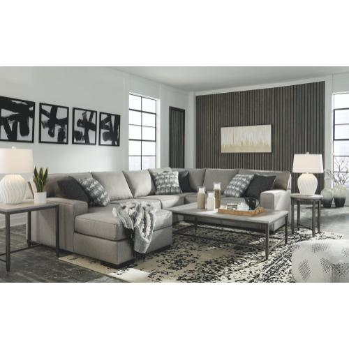 Benchcraft - Marsing Nuvella 4-piece Sectional With Chaise
