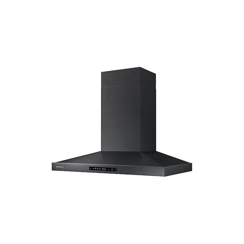"36"" Wall Mount Hood in Black Stainless Steel"