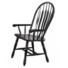 DLU-4130-AB-A  Comfort Dining Arm Chair  Antique Black