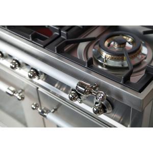 40 Inch Stainless Steel Dual Fuel Liquid Propane Freestanding Range