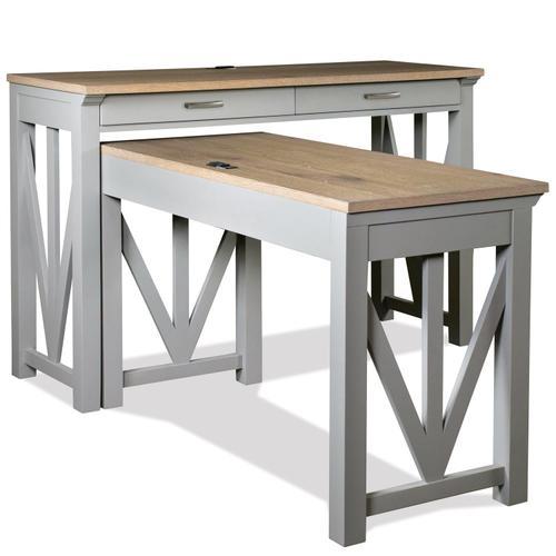 """Riverside - Osborne - 36"""" Nesting Desk - Timeless Oak/gray Skies Finish"""