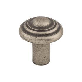 Aspen Button Knob 1 1/4 Inch Silicon Bronze Light