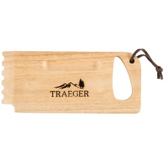 Traeger Wooden Grill Grate Scrape