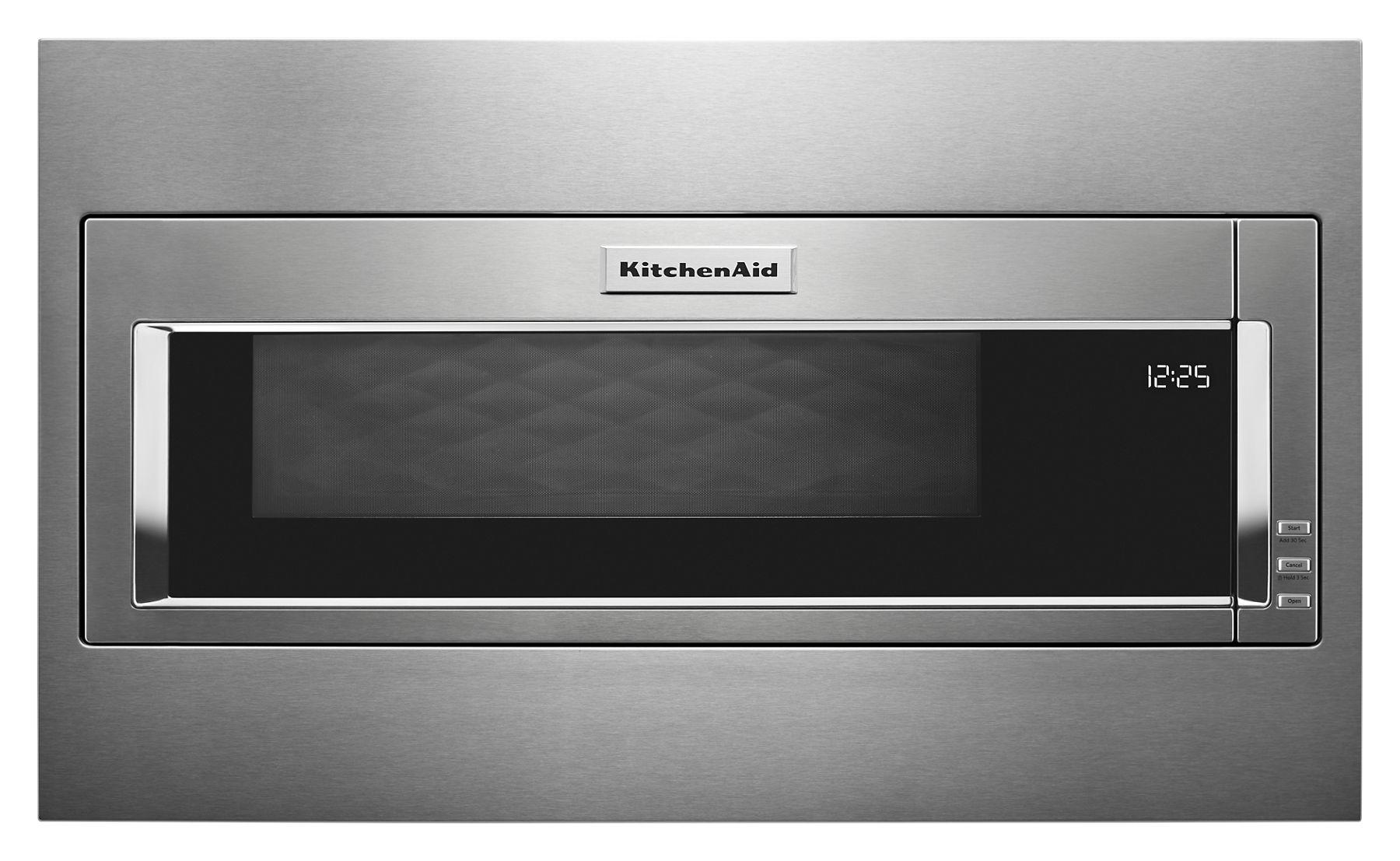 Kitchenaid1000 Watt Built-In Low Profile Microwave With Standard Trim Kit - Stainless Steel
