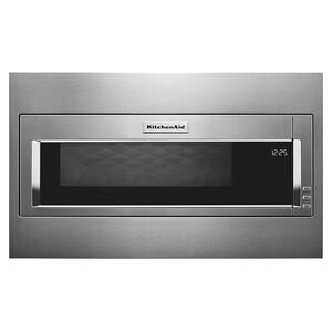 KitchenAid1000 Watt Built-In Low Profile Microwave with Standard Trim Kit - Stainless Steel
