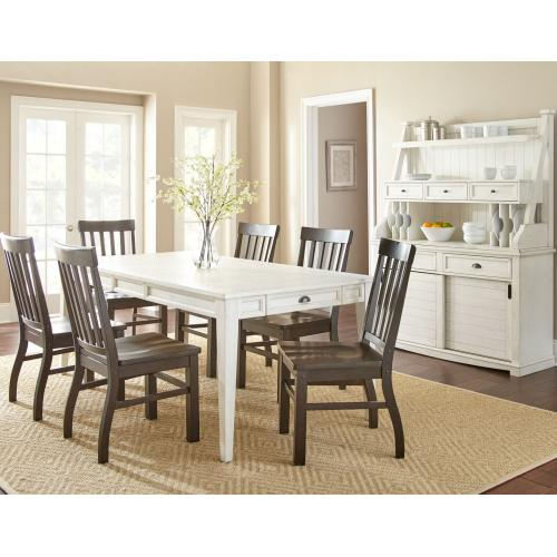 Gallery - Cayla 7 Piece Dining Set White(Table & 6 Side Chairs)