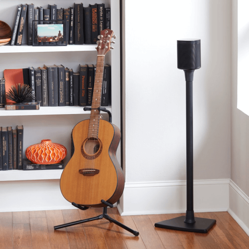 Black Wireless Speaker Stands designed for Sonos One, Sonos One SL, Play:1 and Play:3 - Pair