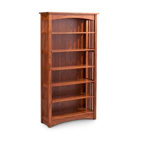 Mission Open Bookcase, Mission Open Bookcase, 3-Adjustable Shelves