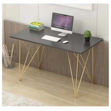 """See Details - 3829 Computer Desk with Gold Legs - 47"""" L"""
