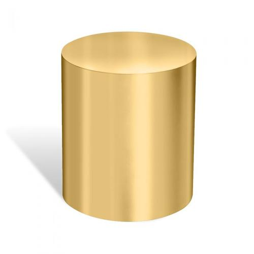 Aubrey Cylinder Side Table - Brass