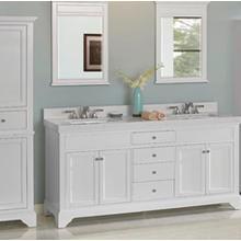 """See Details - Framingham 72"""" Double Bowl Vanity - Polar White"""