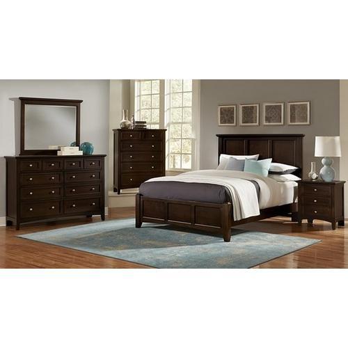 Vaughan-Bassett - Queen Merlot Mansion Bed