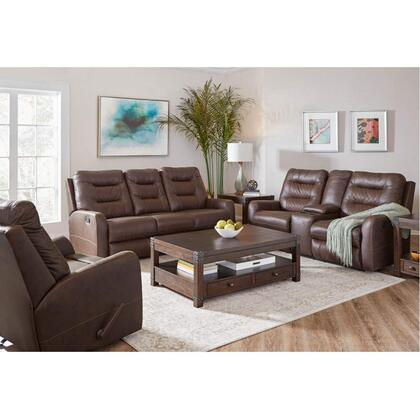 56417 Double Motion Loveseat with Console