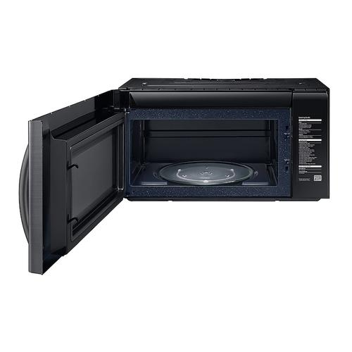 Samsung - 2.1 cu. ft. Over-the-Range Microwave with PowerGrill in Fingerprint Resistant Black Stainless Steel
